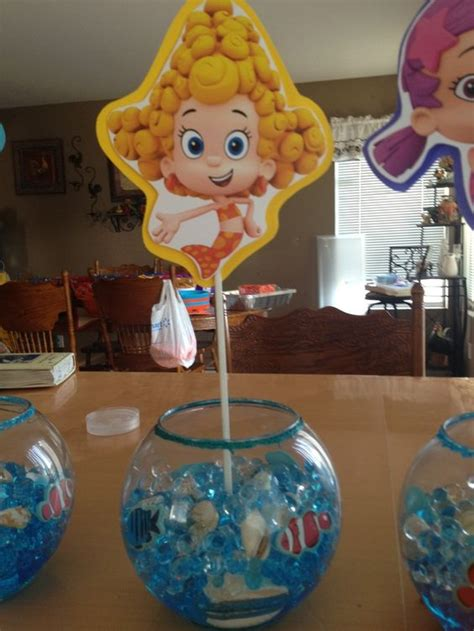 bubble guppies centerpiece ideas and ideas on pinterest