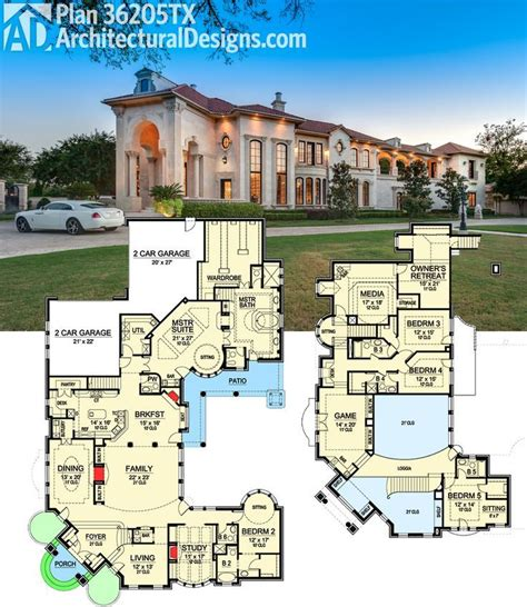Luxury Homes Floor Plans 35 Best Luxurious Floor Plans Images On Pinterest Home Plans House Floor Plans And
