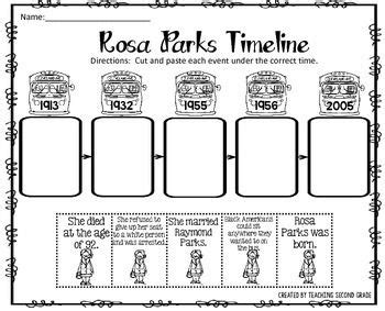 timeline activity book rosa parks timeline cut and paste freebie i am pleased to offer this cut and paste activity to