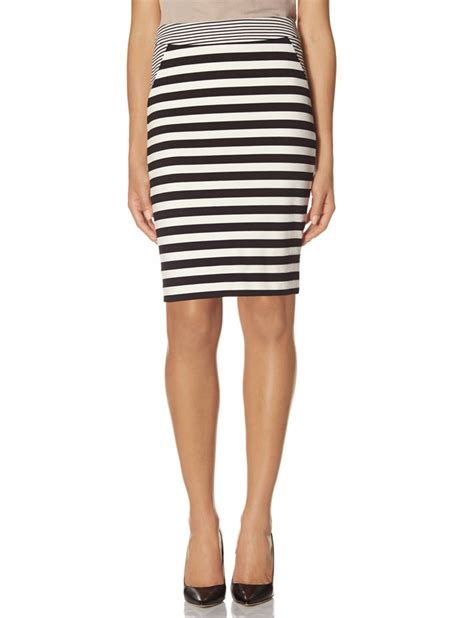 the limited striped ponte pencil skirt where to buy