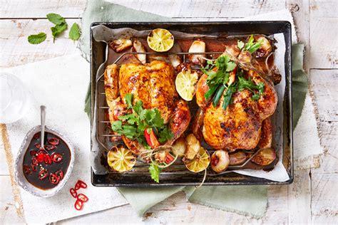roast chicken  caramel tamari  ginger sauce recipe