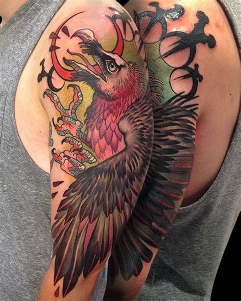 vulture tattoo meaning 100 vulture tattoo vulture head with tattoo stock