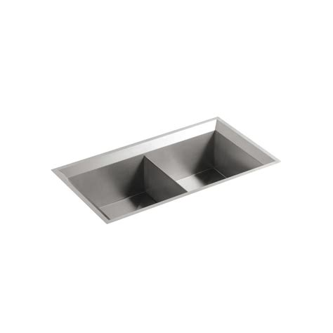 Kohler Undermount Kitchen Sinks Stainless Steel Kohler Poise Undermount Stainless Steel 33 In Bowl Kitchen Sink K 3388 Na The Home Depot