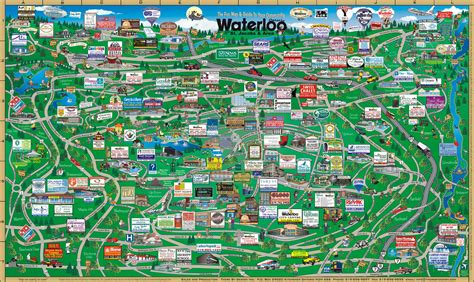 touristic map waterloo tourist map waterloo on mappery
