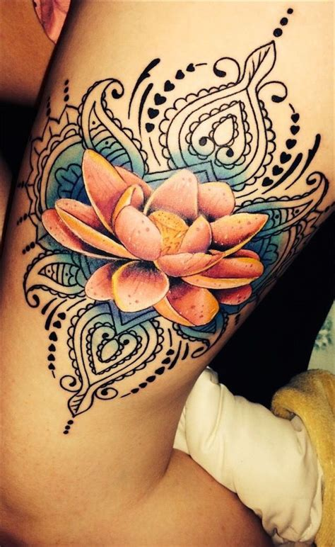 tatuajes de flor de loto 187 ideas y fotograf 237 as
