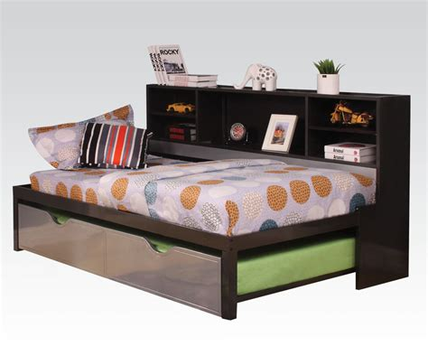 twin bookcase bed with trundle renell twin bookcase daybed trundle kids beds af 37225t 4