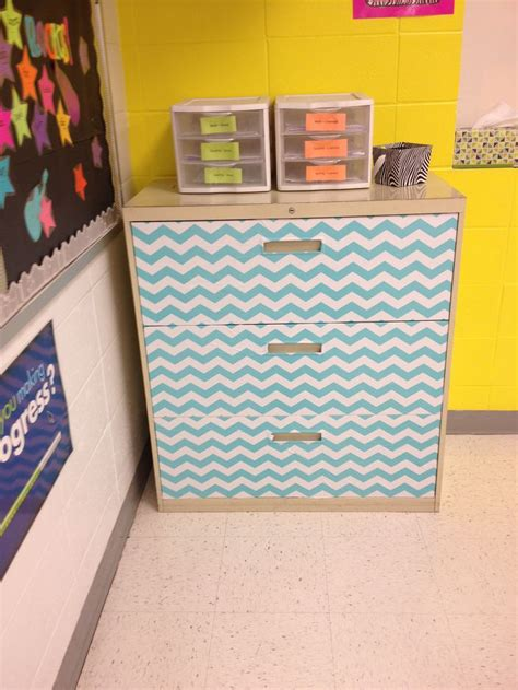 contact paper file cabinet cover a filing cabinet in contact paper to give it a new