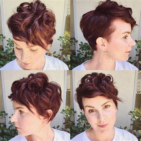 curl side bangs vertically 35 short hairstyles for women