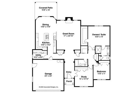 Traditional House Floor Plans by Traditional House Plans Porterville 30 695 Associated