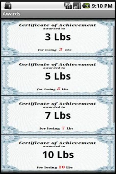 weight loss certificate template losing weight awards app for android
