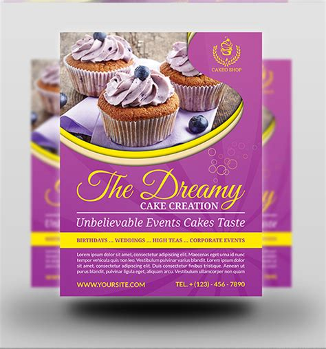 25 Cupcake Flyer Design Psd Download Design Trends Premium Psd Vector Downloads Cake Brochure Template Free