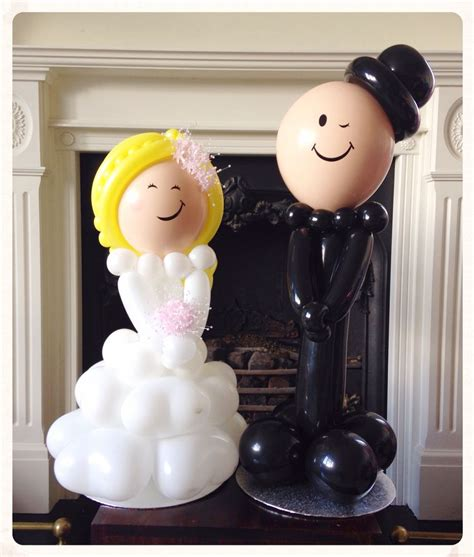Balon Wedding Groom and groom balloons made by balloonblooms co uk