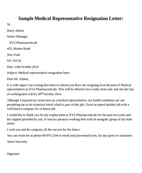 Resignation Letter For Another Offer by 30 Resignation Letter Formats Templates Pdf Doc