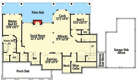 dual master bedroom floor plans country cottage with dual master suite 25605ge