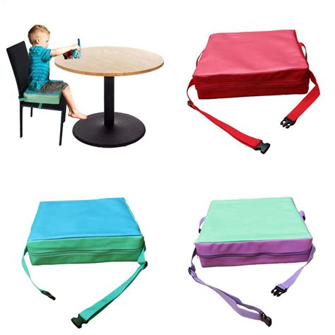 Dining Chair Booster Seat Children Increased Pad Baby Booster Seat Cushion Adjustable Removable Dining Chair In