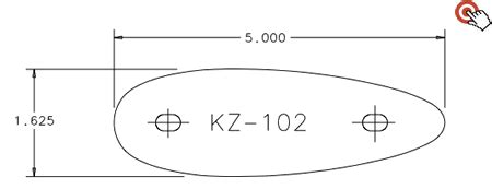 pre fit kz 102 recoil pad kick eez