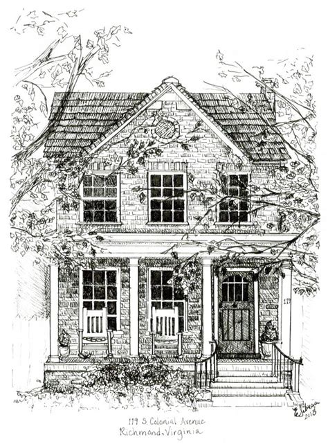 house drawing home drawings art journaling pinterest