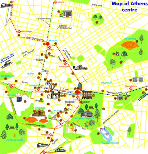 athens map map of athens athens travel map athens political map