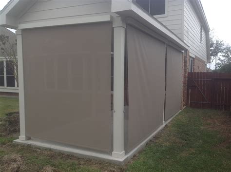 outdoor shades for patio houston outdoor shades roll up or shades roll away