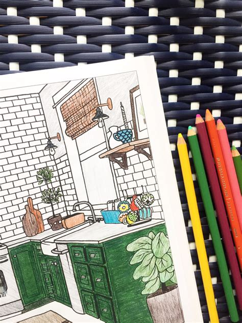 interior design coloring book inspired room