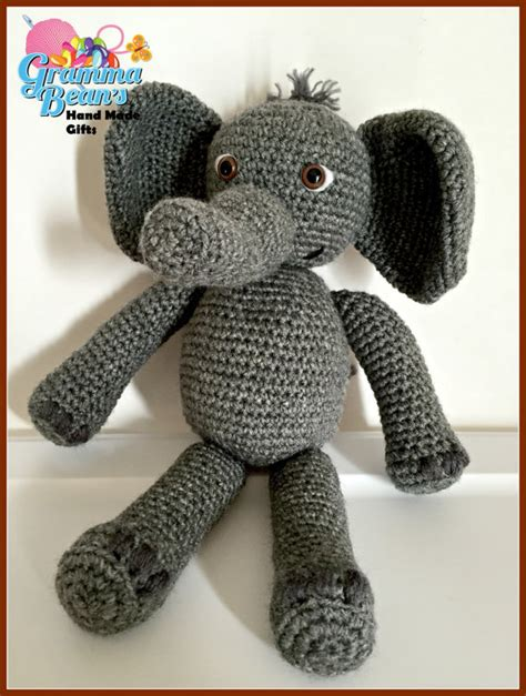 Elephant Cuddle Rug by Cuddle Pals Crochet Elephant Pattern From Grammabeans On
