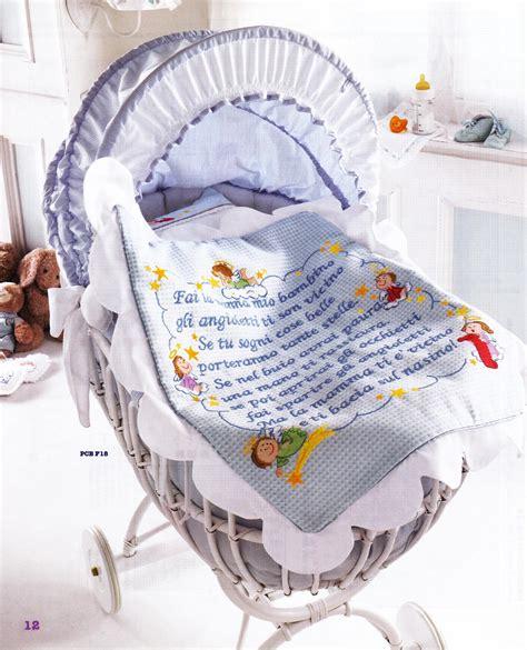 copertine culla punto croce copertina lenzuolino filastrocca angioletti 1