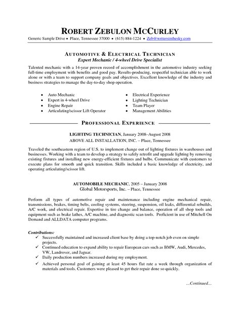 Industrial Maintenance Technician Cover Letter by 100 Unforgettable General Maintenance Technician Resume Mechanic Resume Berathen
