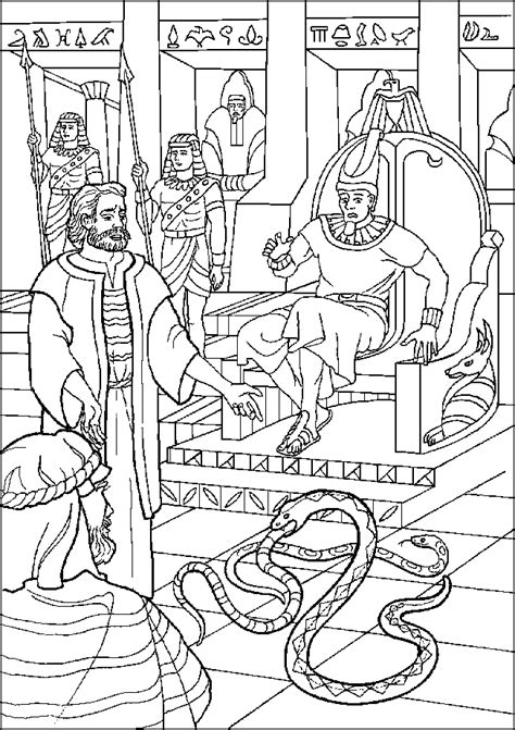 Pharaoh And Moses Coloring Pages by Let My Go Moses Coloring Page Coloring Pages