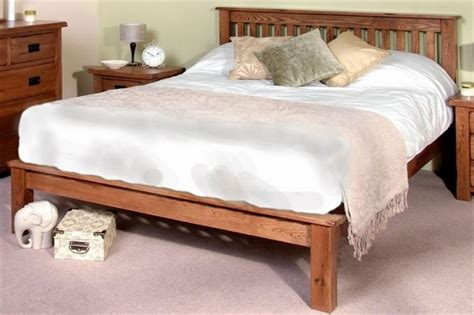 oak bed frame rustic oak wooden bed frame lfe dark wood wooden