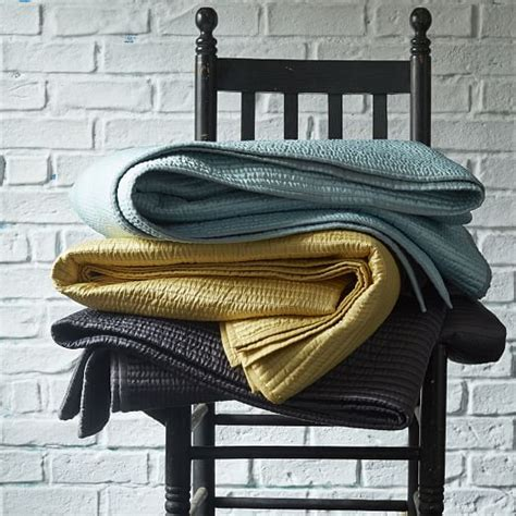 Channel Stitch Coverlet West Elm by Channel Stitch Coverlet Slate West Elm