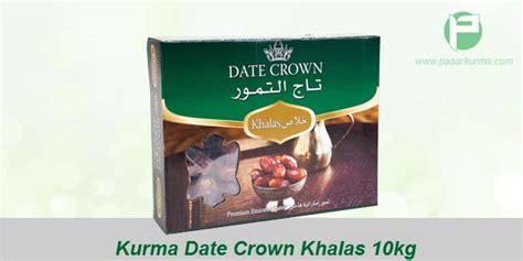 Kurma Khalas 10kg By Amanah Kurma jual grosir kurma date crown khalas dus 10kg 10 pack