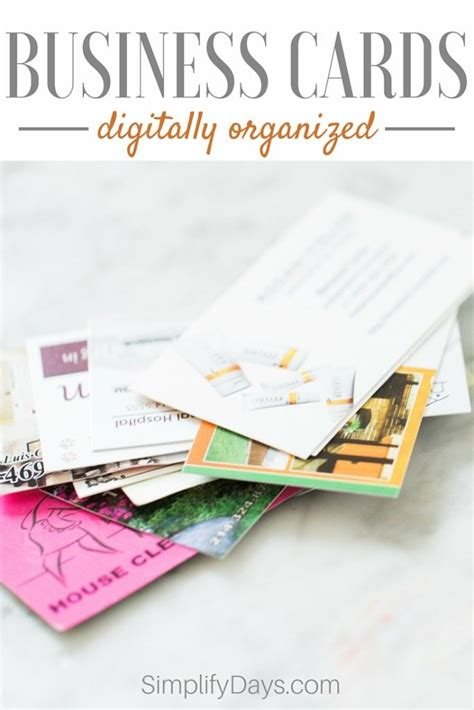 How To Store Business Cards Digitally