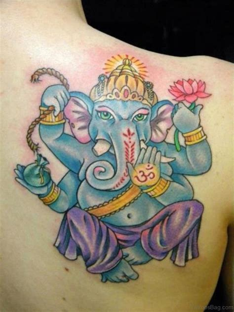 blue ganesha tattoo 92 lord ganesha tattoos on shoulder