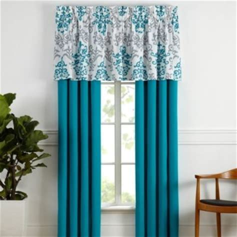 Carina Window Curtain Panel Pair in Turquoise