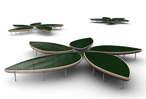 Natural Bench Design for Home Interior and Public Space Furniture, Konoha Collection by Sancal