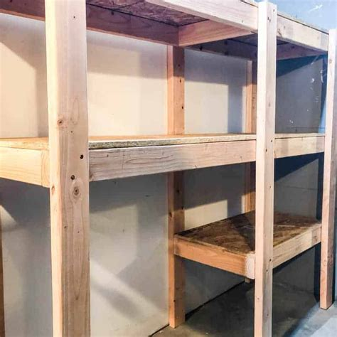 diy garage shelves  plans  handymans daughter