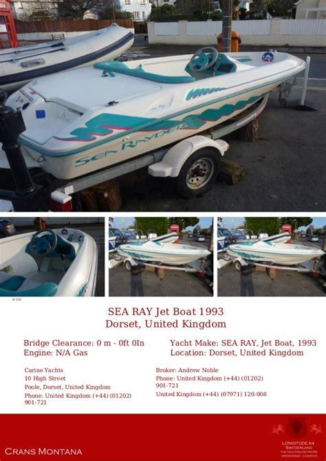 sea ray jet boat 1993 sea ray jet boat 1993 163 2 995 for sale yacht brochure