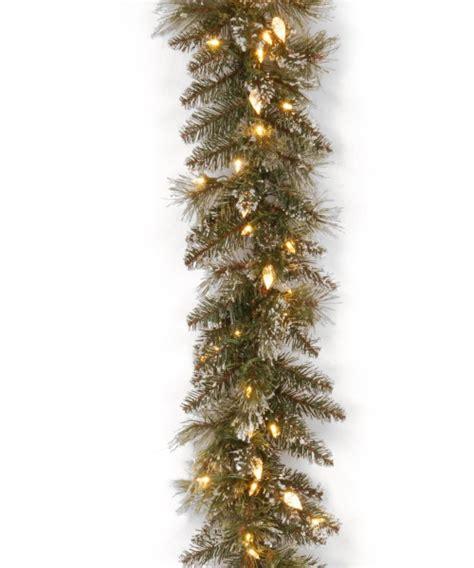 9 ft indoor pre lit glittery bristle pine artificial christmas tree martha stewart 9 ft glittery bristle pine pre lit garland garland at hayneedle