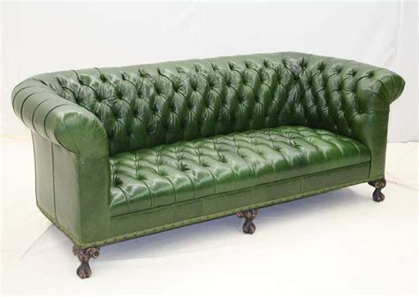 green tufted sofa 25 best ideas about green leather sofas on