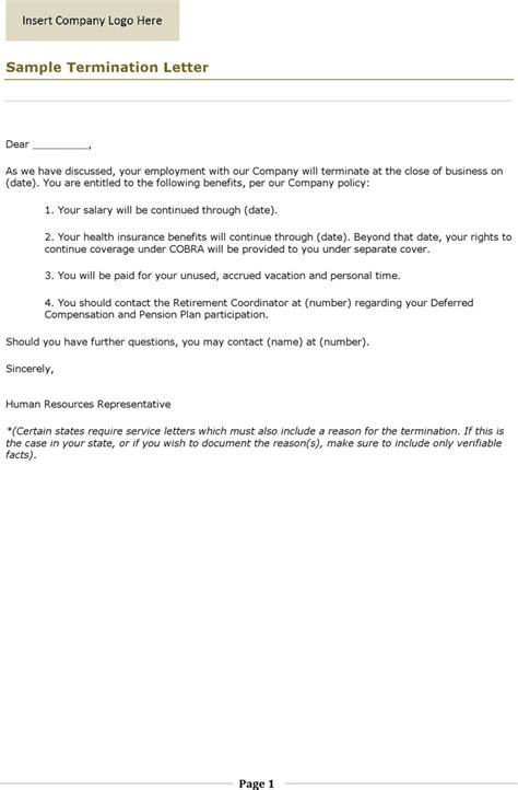 termination letter format misbehaviour termination letter template free premium