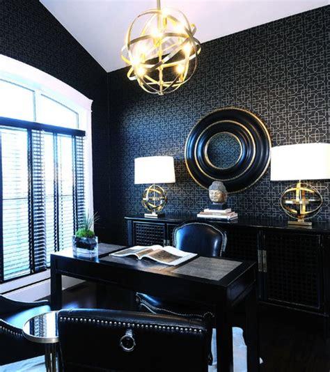zen home office design ideas black white and gold color scheme interiors 24 photos