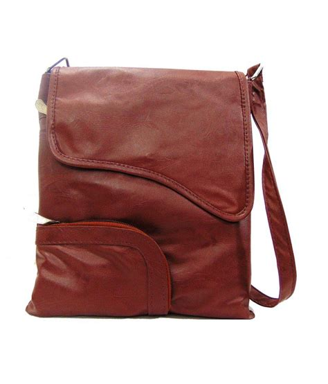 Maldavis Brown Slingbag Estoss Brown Sling Bag Buy Estoss Brown Sling Bag