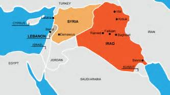 Iraq And Syria Map by Iraq And Syria Past Present And Hypothetical Future Maps