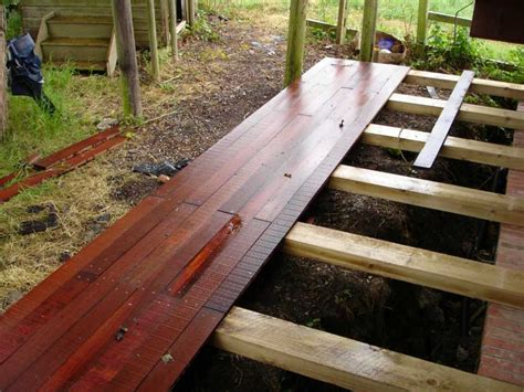 Railway Sleepers Decking by Kilgraney S Raised Deck And Steps Project With Railway
