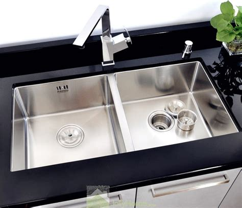 double sink kitchen drop in double bowl kitchen silver sink stainless steel