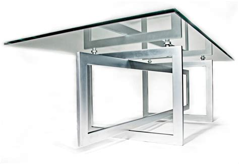 stunning metal glass conference table modern