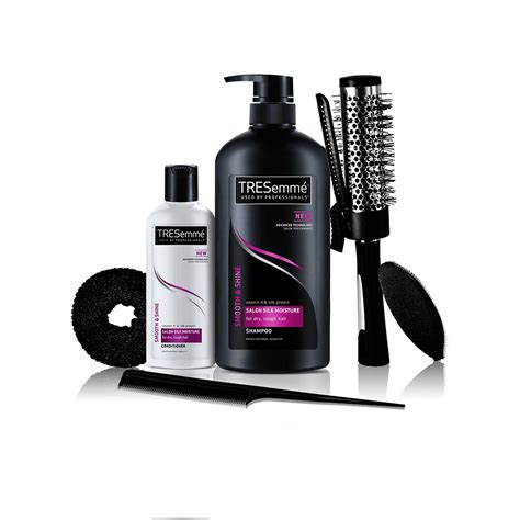 Shoo Tresemme Smooth And Shine tresemme free hair styling kit worth rs 500 with smooth