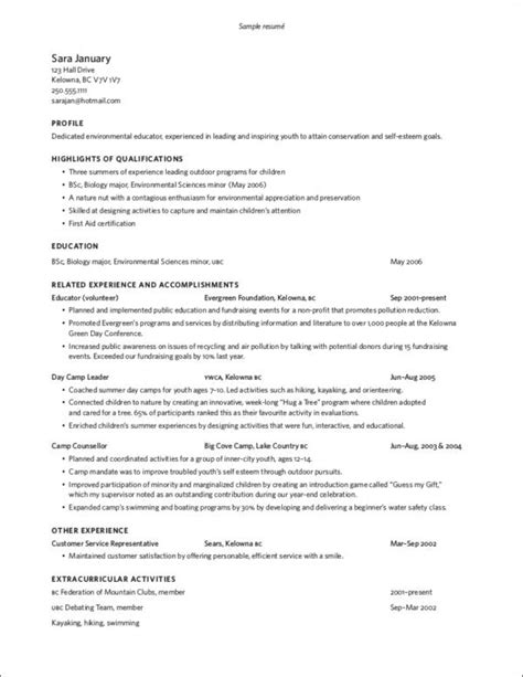 Winning Resume by Exle Resume A Winning Resume Exle Sle Non Profit