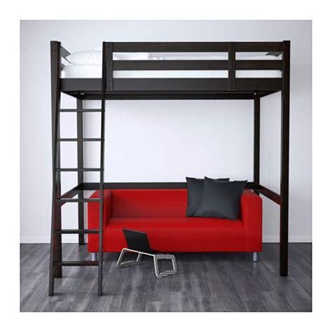 letto soppalco ikea stor 197 struttura per letto a soppalco nero nero 140x200 cm