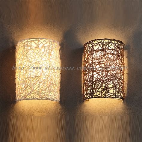 aliexpress buy modern handmade rattan wall sconces